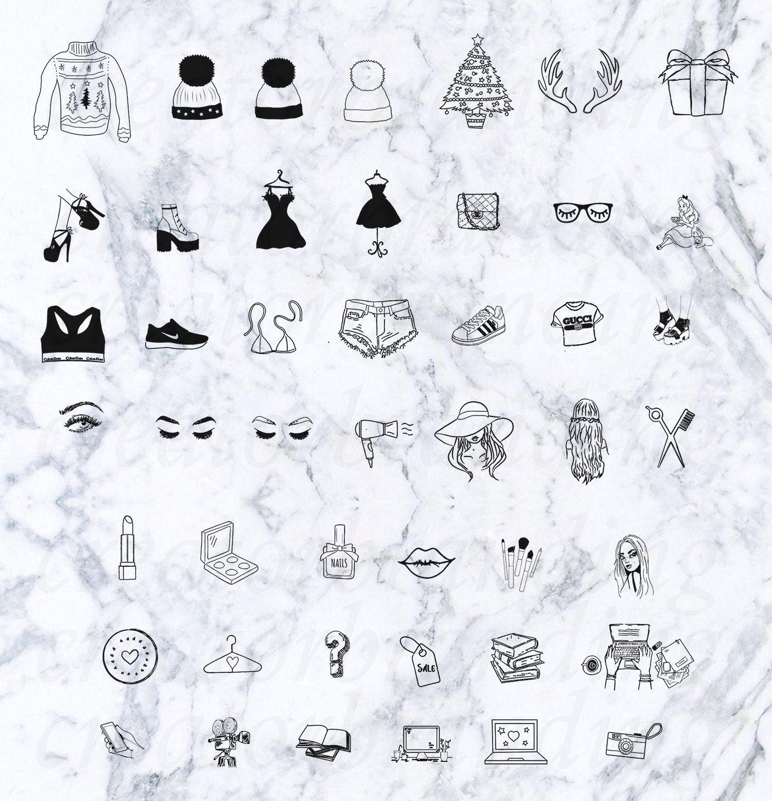 Instagram Highlight Icons Marble Yellow