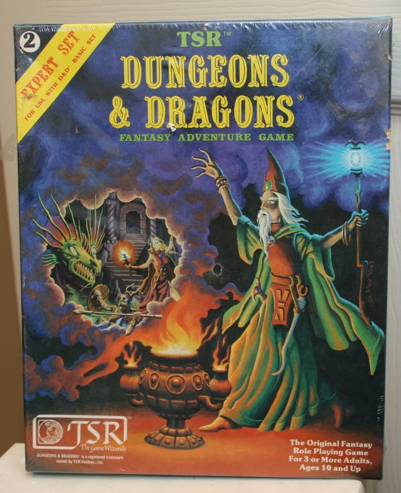 Dungeons And Dragons Vintage Tsr Expert Set 2 Toys Games