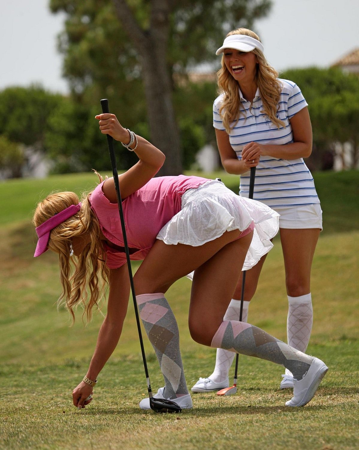 Golf upskirt shots