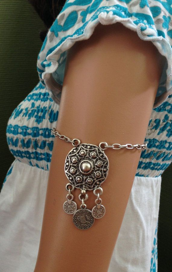 Boho Jewelry // Boho Armlet with Turkish Coins by NadzJewelryBox on Etsy, $15.00