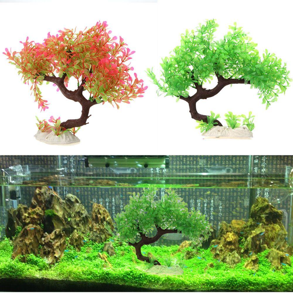 Aquarium Fish Tank Decor Artificial Plants Plastic Grass