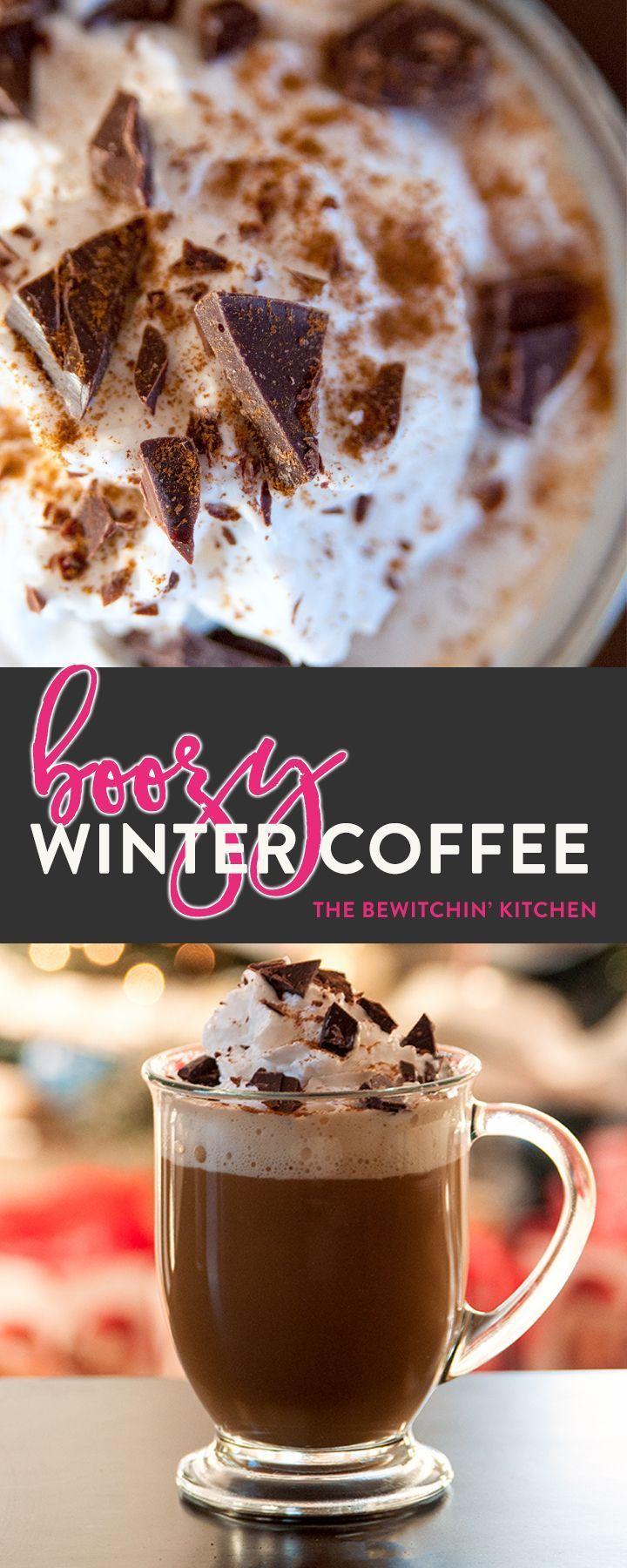 Boozy Winter Coffee Recipe Coffee recipes, Coffee