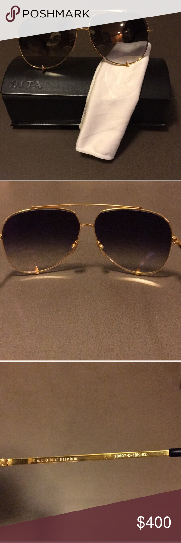 0d2b1e95a15e 18k Gold · Lenses · Sunglasses Accessories · Lentils · NWOT 18kGold  Black  titanium DITA Talon aviators NWOT Black  amp  18kGold DITA TALON aviator