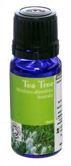 Organic Tea Tree Essential Oil (Melaleuca alternifolia) certified by the soil association