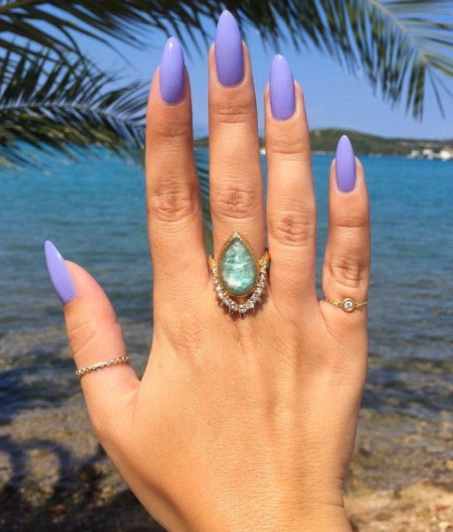 Pinterest: annieskyss | Purple nails, Almond nails, Gel nails