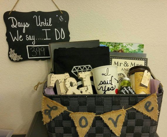 Engagement Gift Basket by NobilityDesign on Etsy | Stuff liz likes ...