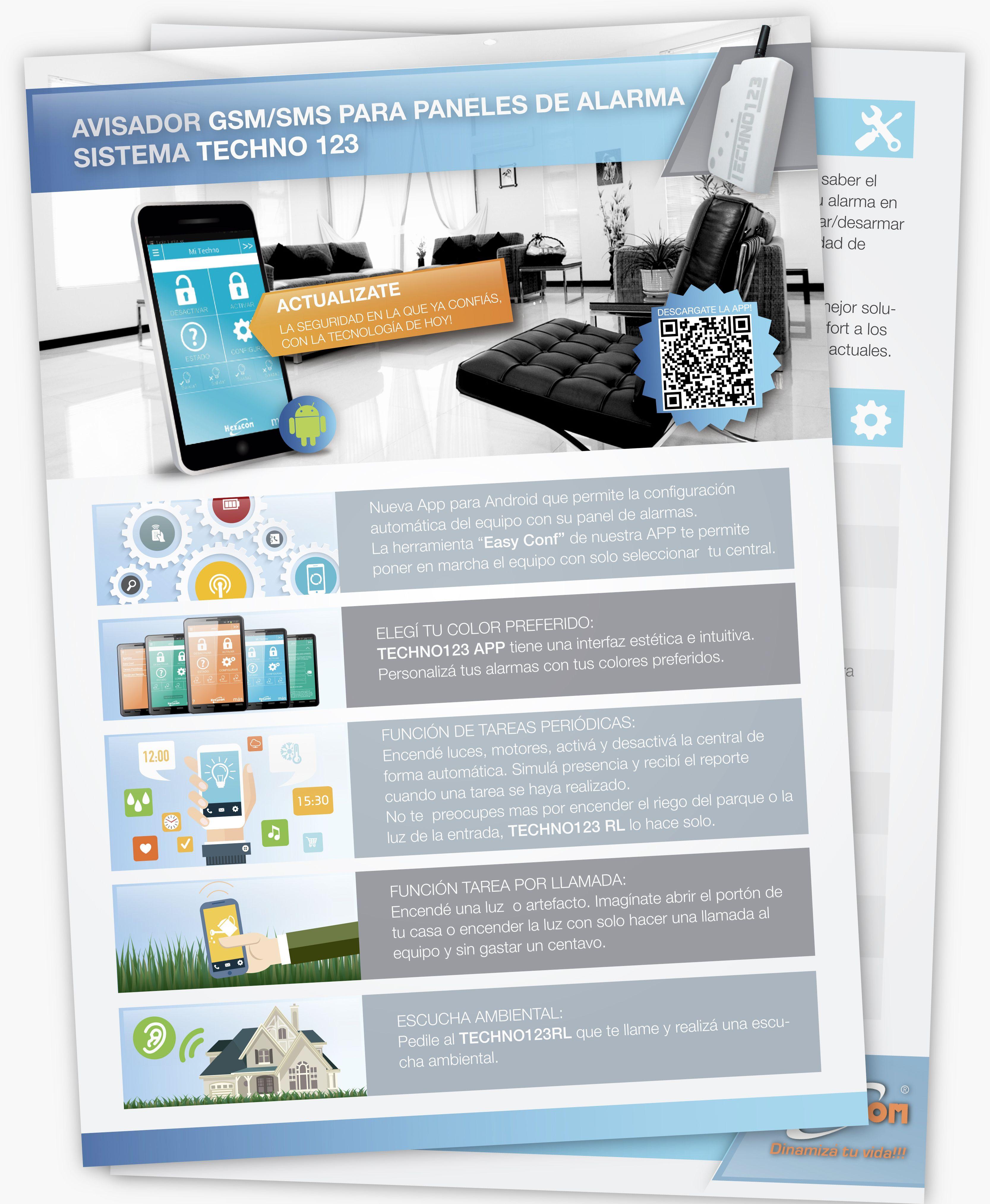 """Diseño de folletería para la firma """"Hexacom"""" www.estudiodarma.com"""