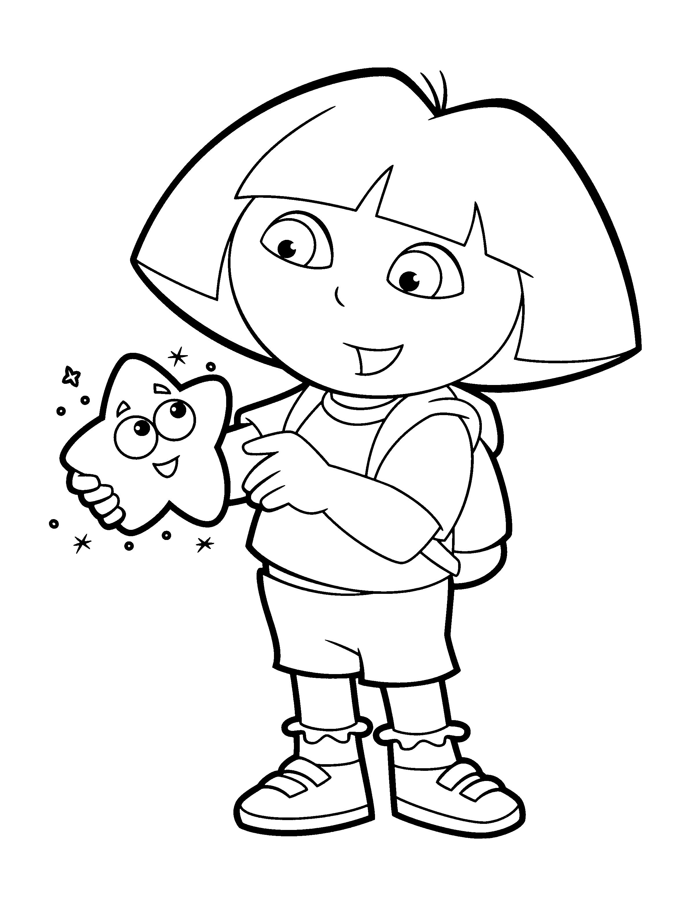 Dora Kleurplaat