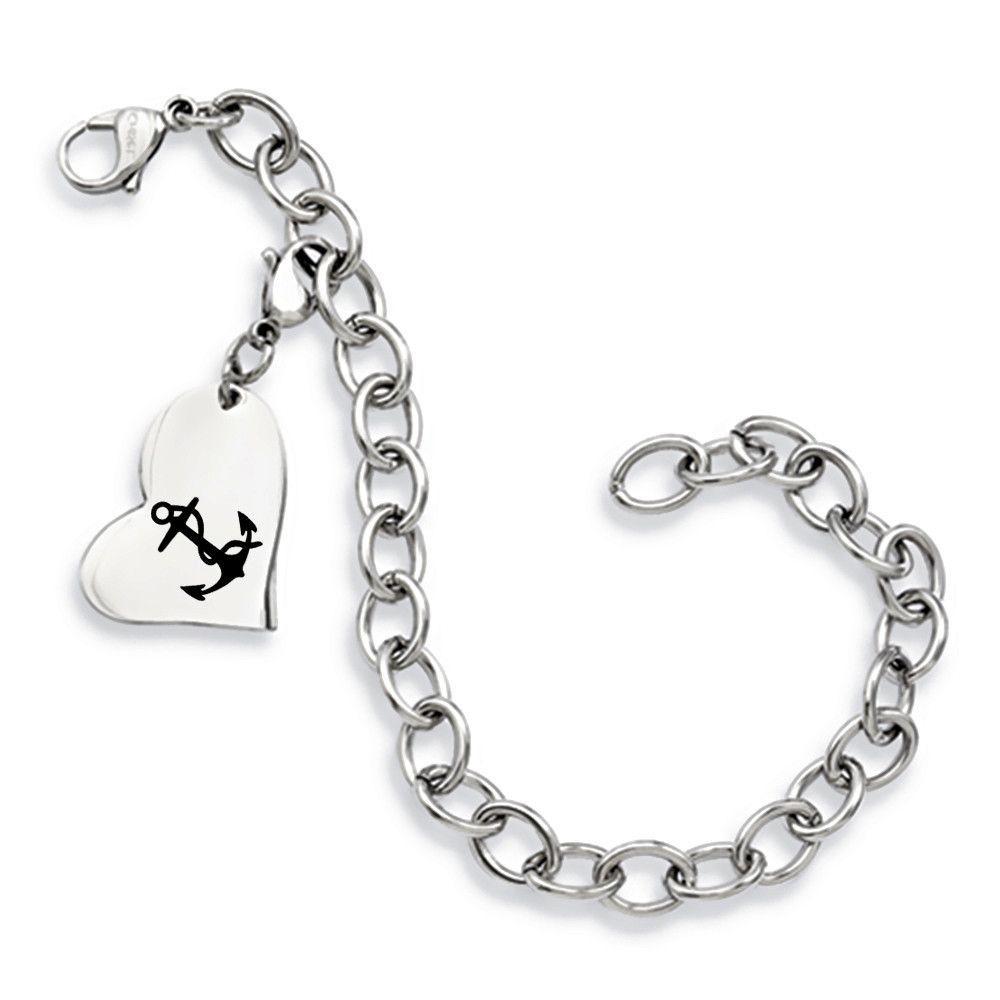 Delta gamma symbol stainless steel heart bracelet gamma symbol delta gamma symbol stainless steel heart bracelet buycottarizona Gallery
