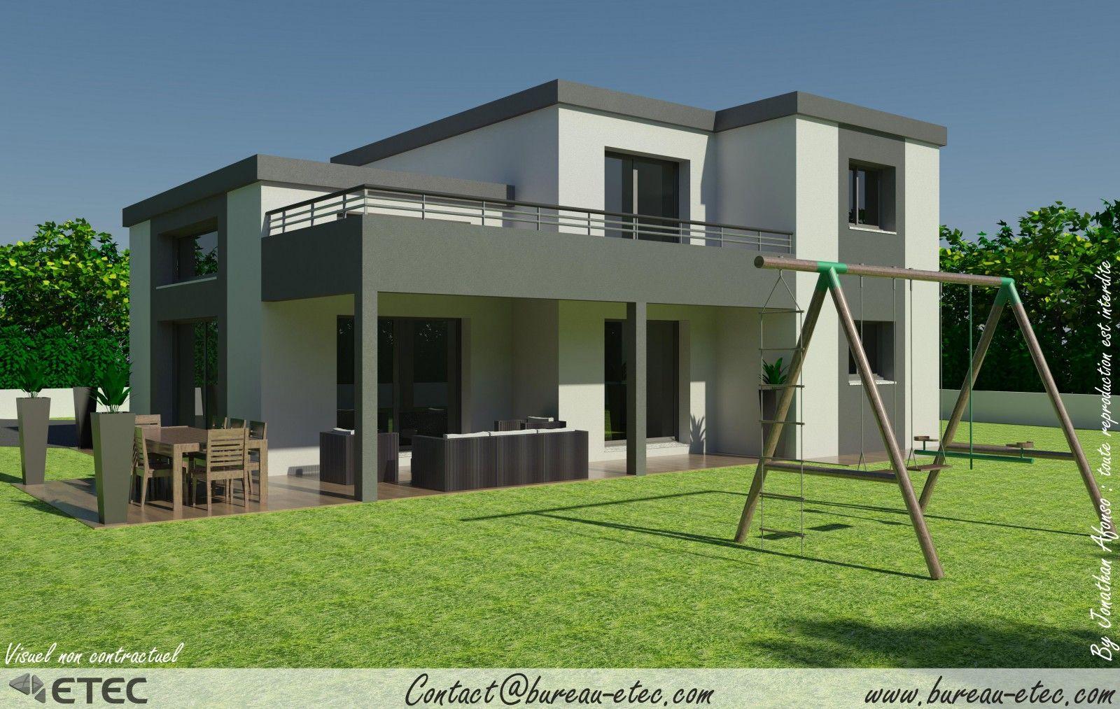 Maison toit terrasse gevrey