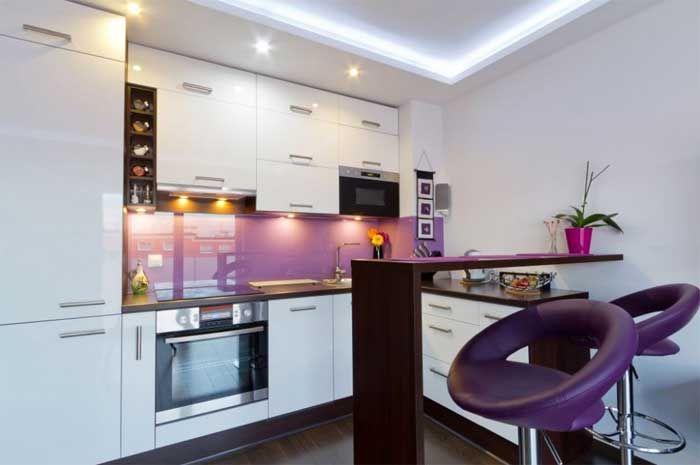 Küchenrückwand Milchglas Und Mit Mauer Weiß Schrank Und
