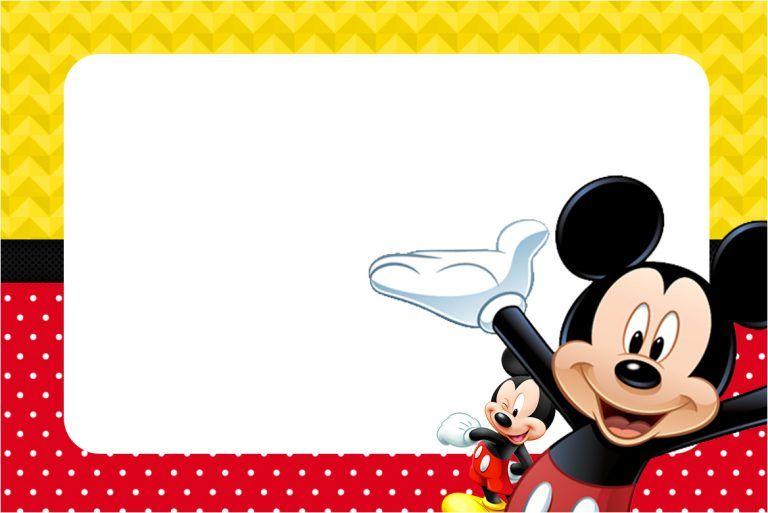 Invitaciones De Mickey Mouse Bebe Para Editar E Imprimir