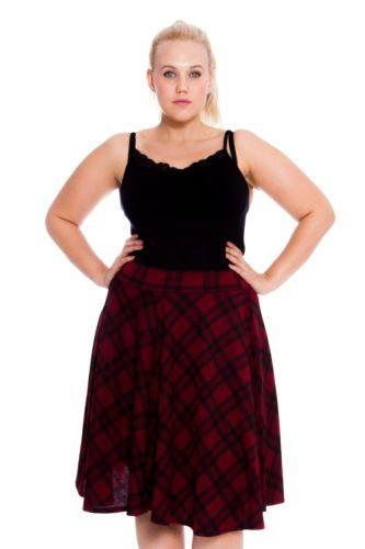 feacd0883 Details about Ladies Tartan Skater Skirt Scottish Check Midi Skirt ...