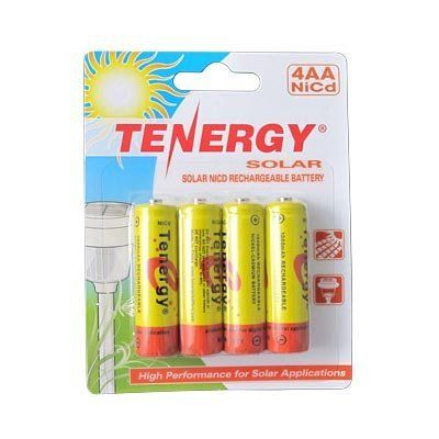 4 Pack Solar Aa Size Rechargeable Batteries Nicd 1000mah By Tngy 7 95 Features 4 Pack Size Aa Battery Rechargeable Batteries Solar Lights How To Run Longer