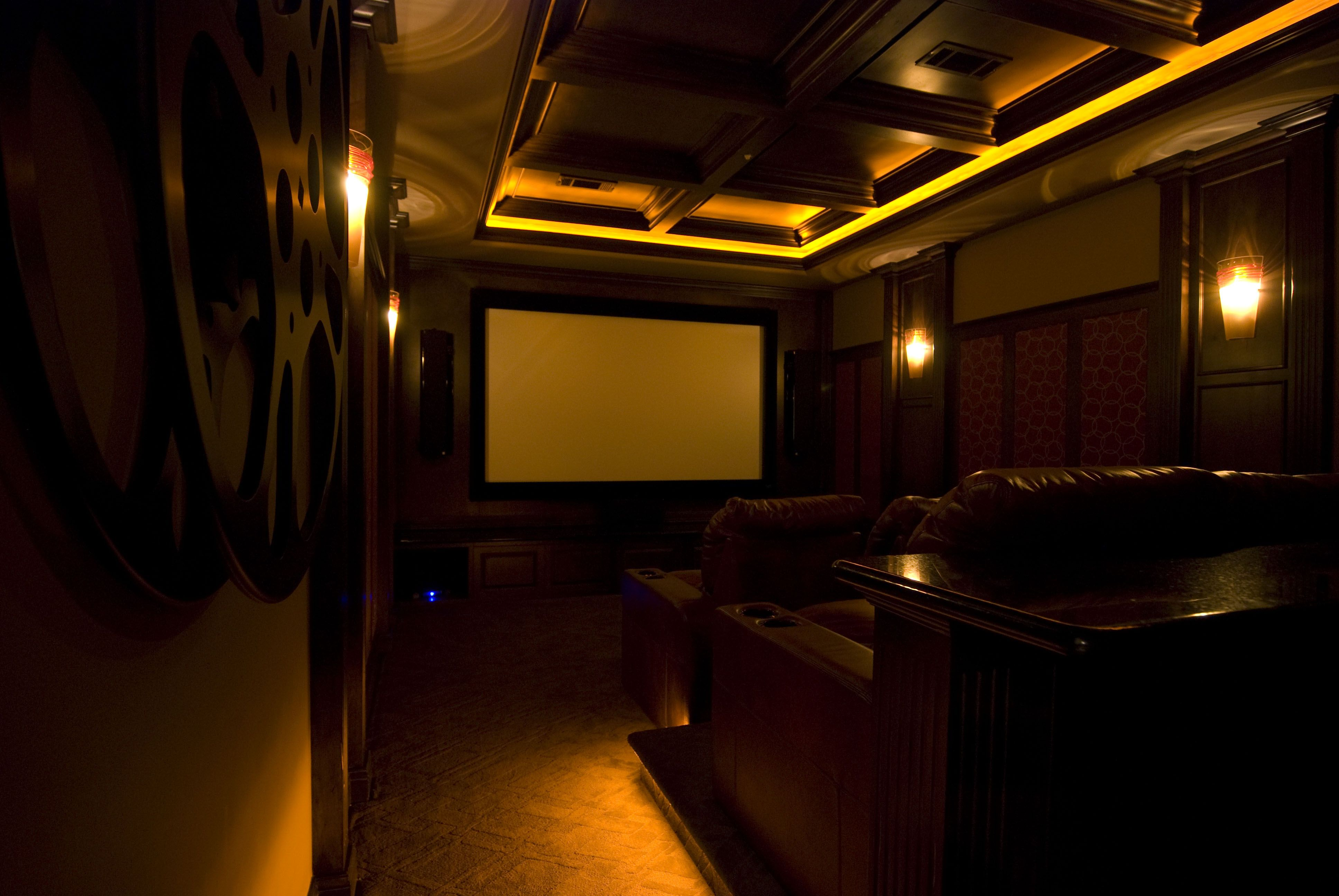 home theater ceiling lighting. Home-Theater-L.E.D.-Isleway-Cove-Lighting Home Theater Ceiling Lighting