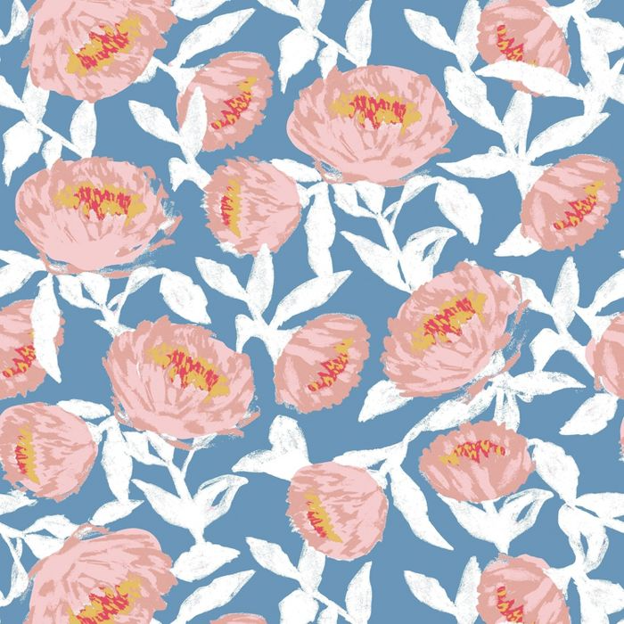 Floral Peel Stick Wallpaper Blue White Opalhouse Peel Off Wallpaper Peel And Stick Wallpaper Wallpaper