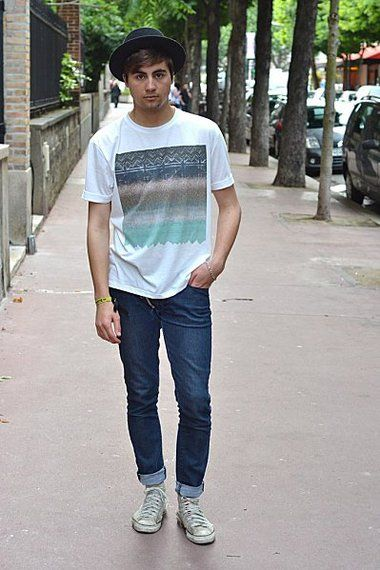 Summer style  WGTA  spsf hat streetstyle fashion t shirt allstars converse  denim jeans style men 169136aa9