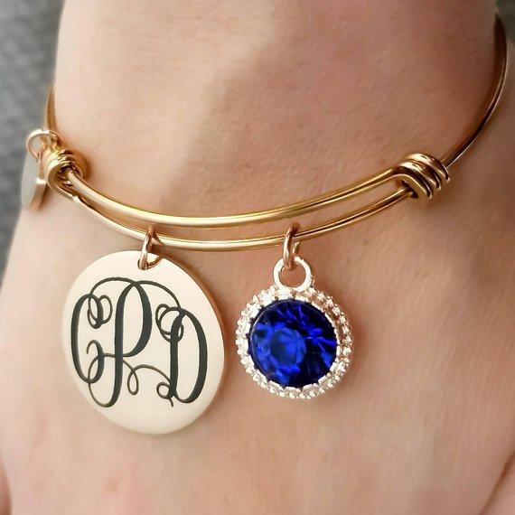 80ab22ddb52c2 Maid of Honor Bracelet - Monogram Bracelet - Custom Bracelet ...