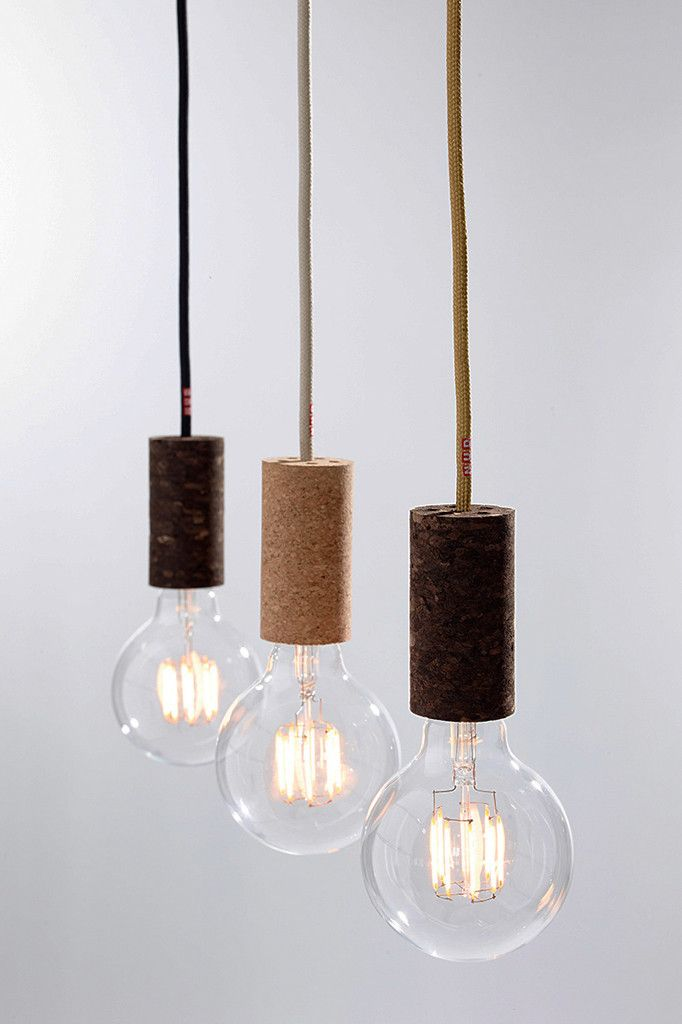Cork pendant cord by nud cork lights and concrete wood cork pendant cord by nud aloadofball Choice Image