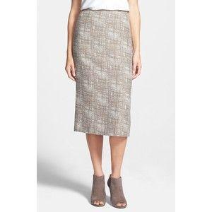 Lafayette 148 New York 'Priscilla' Slim Midi Skirt