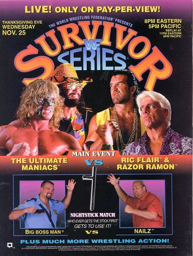 Wwf Wwe Survivor Series 1992 Event Poster Survivor Series Wwe