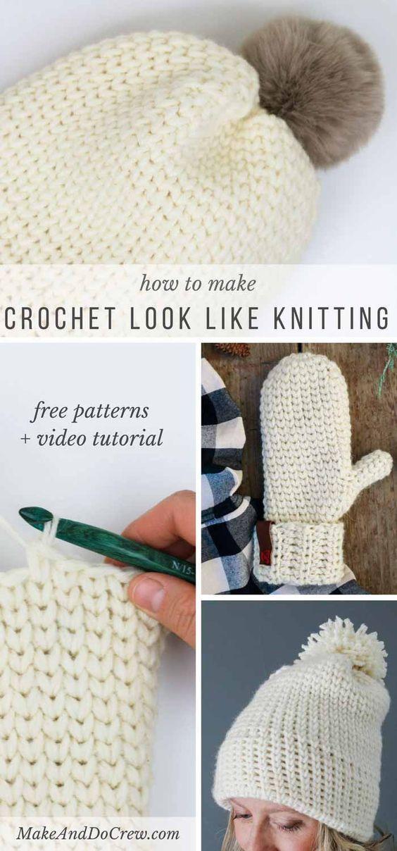 Video: How to Crochet the Knit Stitch (Waistcoat Stitch) | Tejido ...