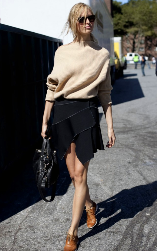 Loose Sweater + Oxfords
