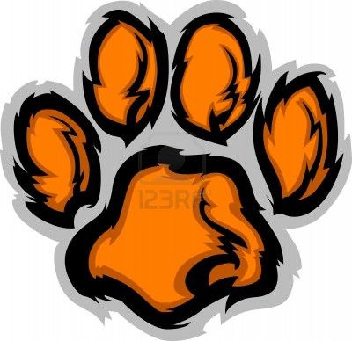 image detail for tiger paw graphic mascot vector image royalty rh pinterest com Tiger Baseball Clip Art Tiger Clip Art