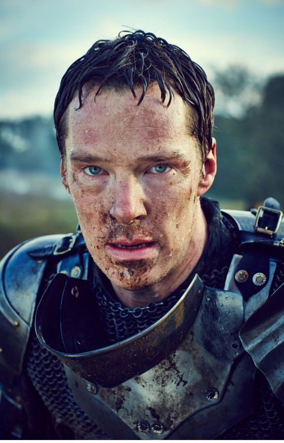 THE HOLLOW CROWN (BBC) ~ Promotional photo of Benedict Cumberbatch as Richard III.