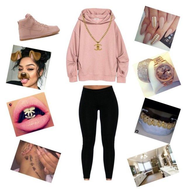 😛😗😙 by aleisharodriguez on Polyvore featuring polyvore mode style NIKE Chanel fashion clothing