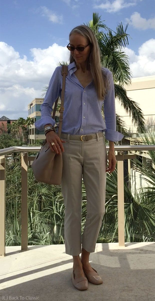 (Video) Refined-Casual Shirt & Pant OOTD: Striped Button-Down Oxford, Slim-Fit Chinos, Blush-Bei