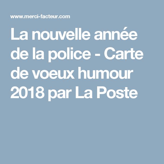 La nouvelle ann e de la police carte de voeux humour for Carte de voeux humour