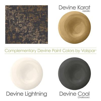 Distressed Weave Charcoal & Karat Wallpaper Devine Color