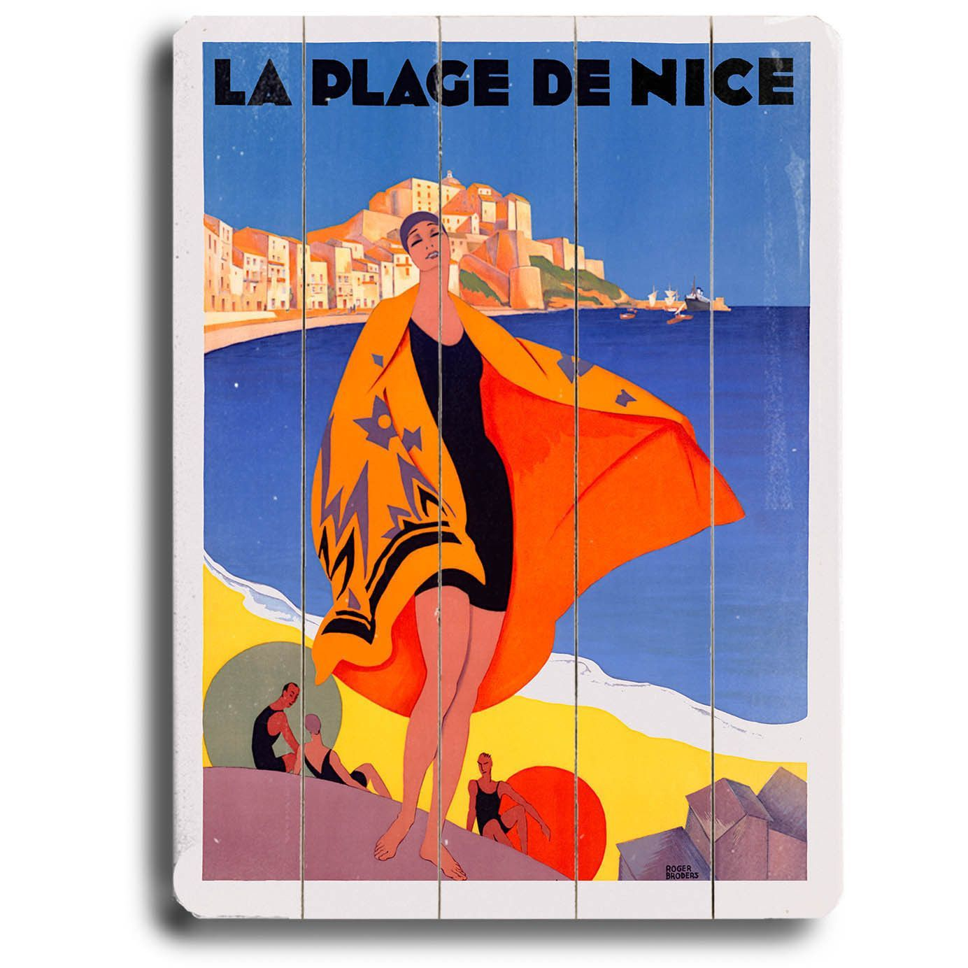 Personalized La Plage De Nice Wood Sign