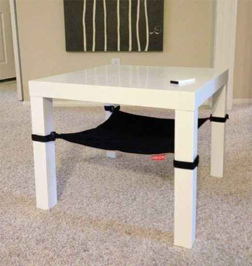 cat hammock under chair folding chaise lounge walmart 26 hacks that will make any owner s life easier diy cats dogs easily an table or with cloth and velcro straps