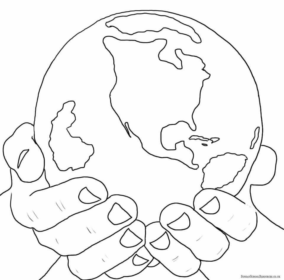 Pin By Magdalena Balkowiec On Fold Napja Sunday School Coloring Pages Earth Coloring Pages Earth Day Coloring Pages