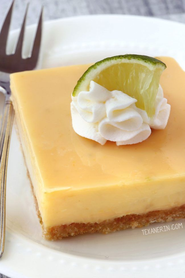 Thick Key Lime Pie Bars With A Homemade Coconut Cookie Crust With