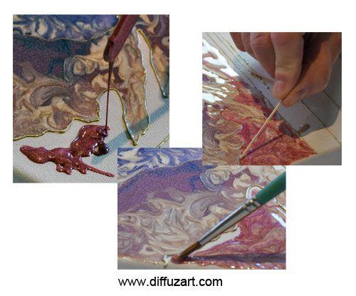 Peinture fantasy prisme et moon par p b o chronique sur - Technique peinture bois ...