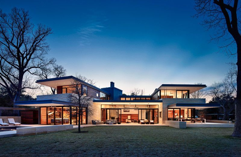 Aamodt   Plumb Architects have designed a house for a family - new miller blueprint co austin