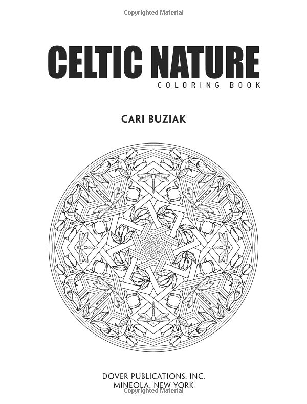 Amazoncom Creative Haven Deluxe Edition Celtic Nature Coloring Book Adult