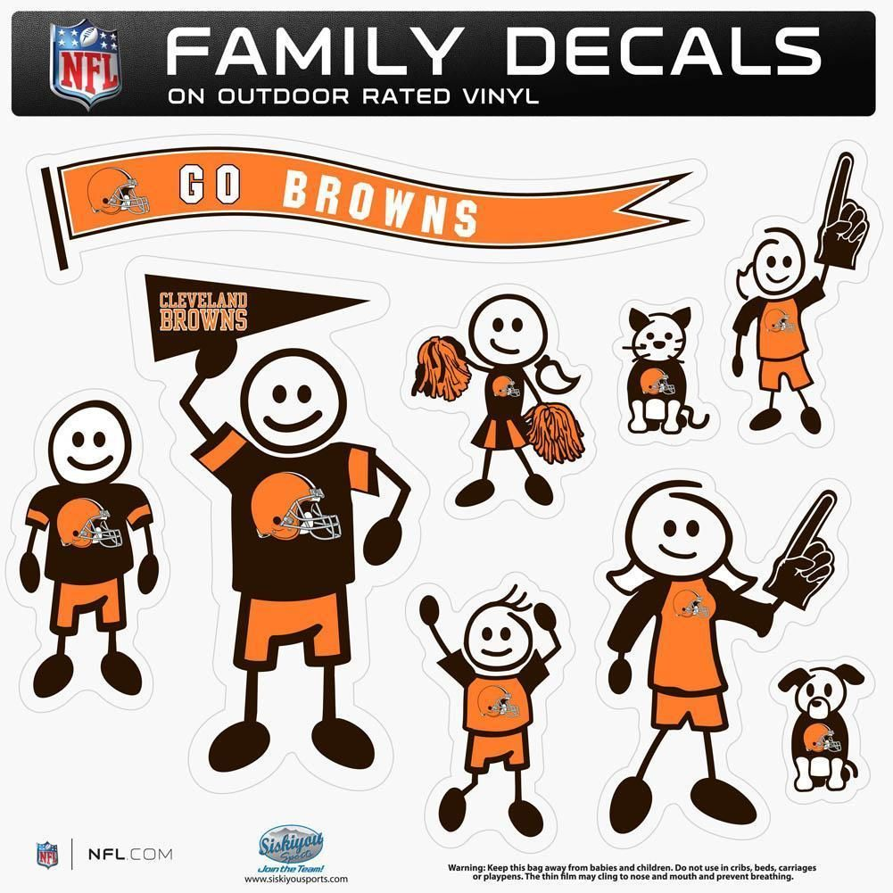 NFL Miami Dolphins Small Family Decal Set