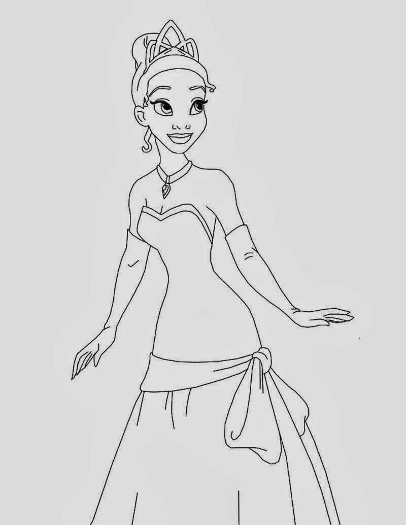 Desenhos A Princesa E O Sapo Para Colorir Pintar E Imprimir