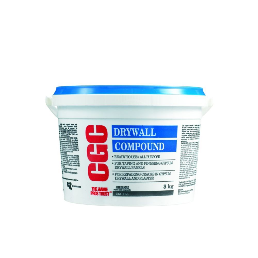 All purpose drywall compound ready mixed 3 kg pail with