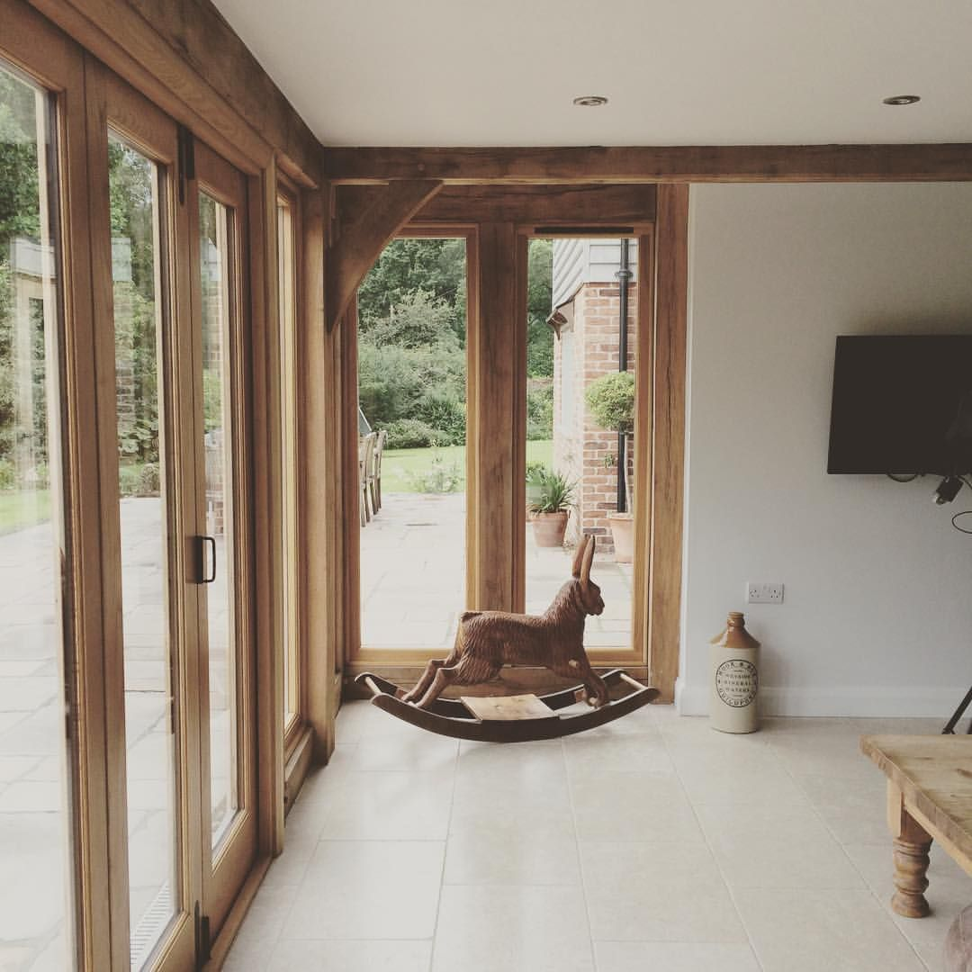Lots of glass - but not a real rabbit #borderoak #contemporarycountryliving