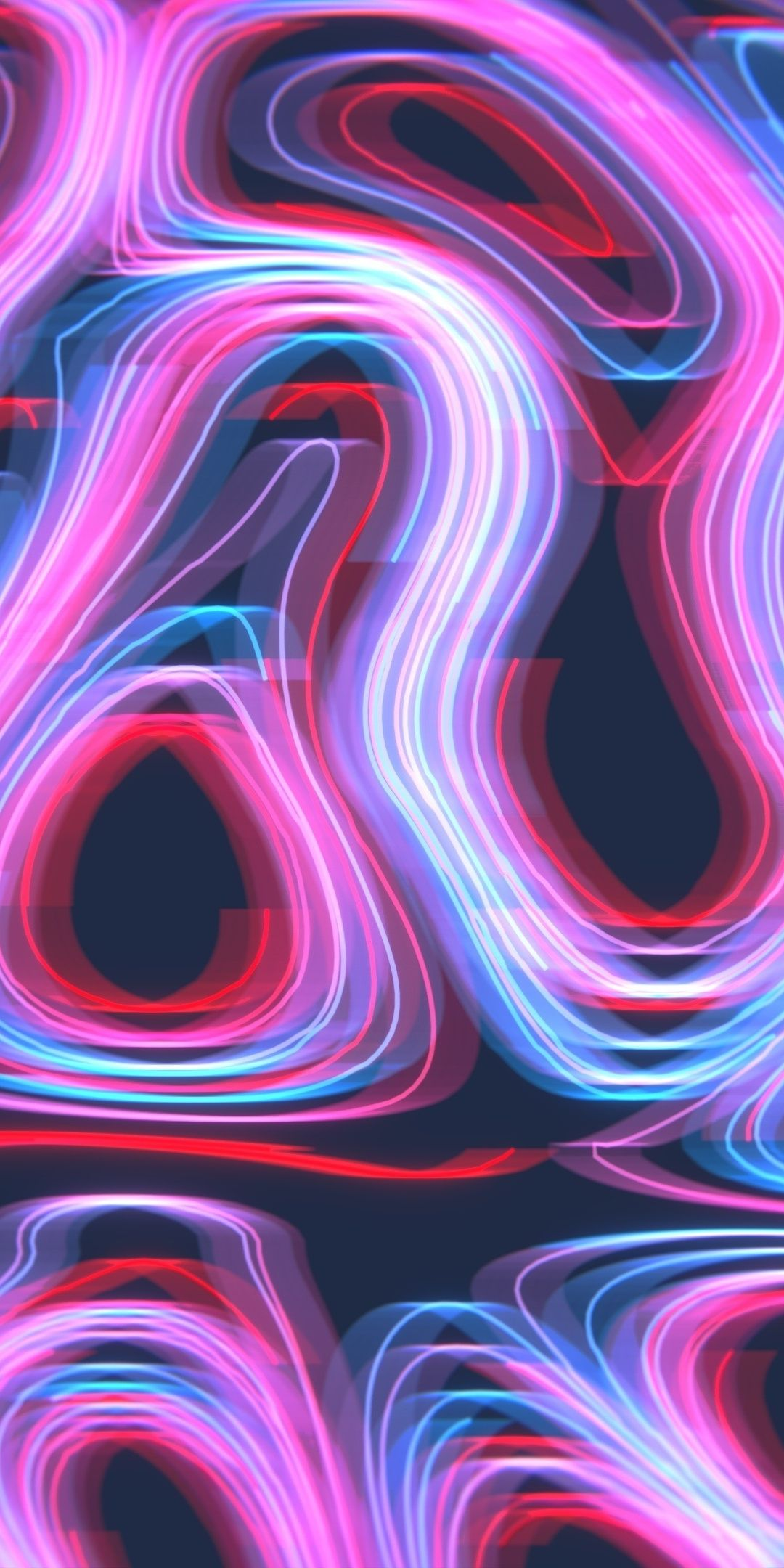Download 1080x2160 Wallpaper Neon Pattern Curves Lines