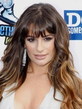 Bangs With Celebrity Hair Style Fringes for Round Faces
