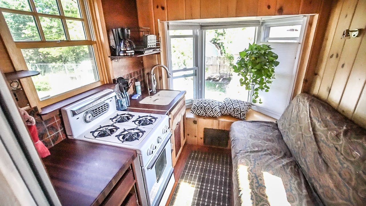 Carpenter Builds Tiny House Truck With 80 Recycled Materials On A Truck Frame Full Tour Youtube Truck Frames Tiny House House