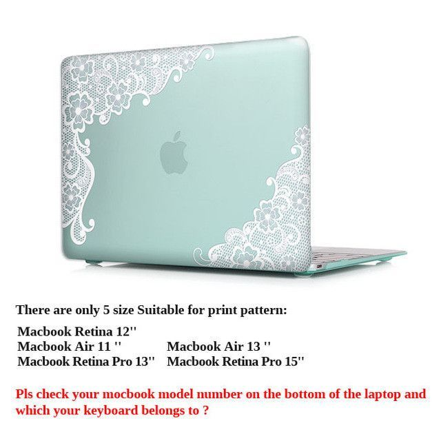 White Lace Crystal Matte Hard Case Cover for Macbook Pro 13.3 15.4 Pro Retina 12 13 15 inch Macbook Air 11 13 Laptop Shell