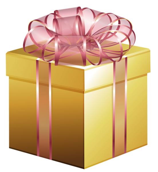 Large Gold Gift Box with Pink Bow Gifts, Gold gift boxes