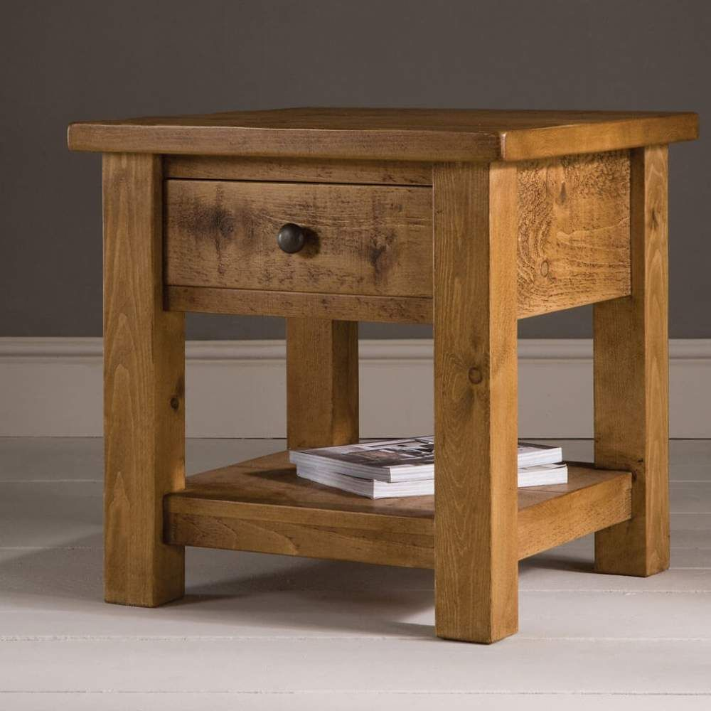 Plank Side Table With Drawer By Indigo Furniture Furniture